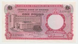 NIGERIA 1 Pound ND 1967 AUNC P 8 - Nigeria