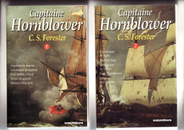 "Capitaine  HORNBLOWER  ( 2 Tomes ) De Cecil Scott FORESTER    - Edition "" OMNIBUS ""  1995 - - Abenteuer"