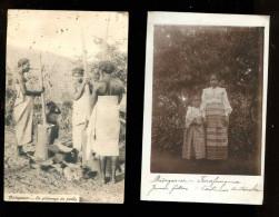 R BTPYS Madagascar Lot De 2 Cartes Dont 1 Carte Photo Jeunes Filles, Ethnographie - Madagascar