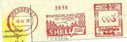 Germany  Nice Cut Meter  Deutschland Ist Schon, Shell Reise Dienst, Dresden 18-11-1938 - Vakantie & Toerisme