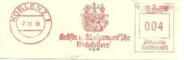 Germany  Nice Cut Meter  Weinkellerei  Koblenz 7-11-1938 - Wijn & Sterke Drank