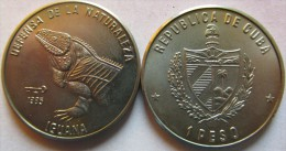 "Cuba 1 Peso 1985 ""Cuban Rock Iguana"" UNC KM# 126 - Cuba"