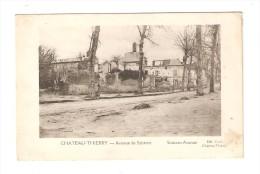 CPA :Militaria : 02 - Château Thierry : Avenue De Soissons : Maisons Bombardées - Attelage Au Fond - PEU  COMMUNE - Guerre 1914-18