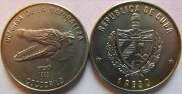 """Cuba 1 Peso 1985 """"Cuban Crocodile"""" UNC KM# 124 - Cuba"""