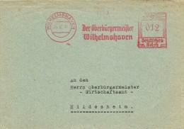 Germany  Cover  With Nice  Meter  Die Oberburgermeister Wilhelmshaven  26-12-1941 - Duitsland
