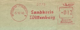 Germany  Window Cover  With Nice  Meter  Landkreis Wittenburg 5-12-1940 - Duitsland