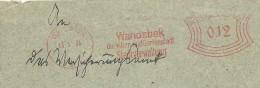 Germany  Cover  With Nice  Meter Wandsbek Die Vilien Und Gartenstadt 13-1-1934 - Duitsland