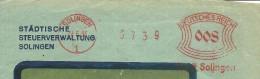Germany  Window Cover  With Nice I Meter Stadische Steuerverwaltung Solingen 21-6-1933 - Duitsland