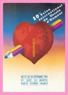 CPM   SAINT JUST LE MARTEL   10eme salon international du dessin d humour