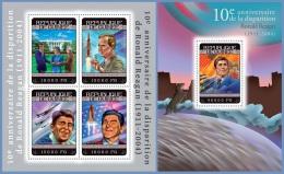 gu14308ab Guinea 2014 USA Presidents Ronald Reagan 2 s/s Space Airplane