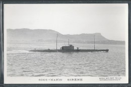 - CARTE PHOTO BATEAUX - Sous-Marin Sirène - Unterseeboote