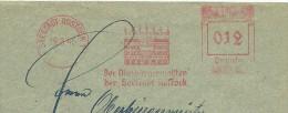 Germany Cover  With Nice Illustrated Meter Der Oberburgermeister Der Seestadt Rostock, Rostock 19-3-1945 - Duitsland