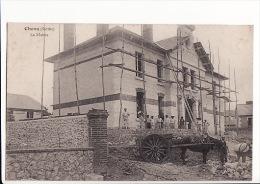 Carte 1910 CHENU / LA MAIRIE (en Travaux ?) - Other Municipalities