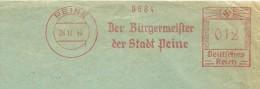Germany Cover  With Nice Meter Der Burgermeister Der Stadt Peine, 26-12-1945 - Marcofilie - EMA (Print Machine)