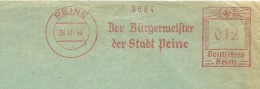 Germany Cover  With Nice Meter Der Burgermeister Der Stadt Peine, 26-12-1945 - Duitsland