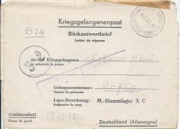LT4276   Correspondance Des Prisonniers De Guerre, A L´interieur 3 Volets D´écriture - War 1939-45
