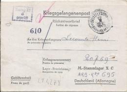 LT4278   Correspondance Des Prisonniers De Guerre, A L´interieur 3 Volets D´écriture - Guerre 1939-45