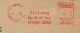 Germany Cover  With Nice  Meter Nurnberg Die Stadt Der Reichsparteitage - Duitsland