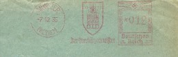 Germany Cover With Nice Pictorial  Meter Der Magistrat Der Ubergurgermeister Munster 7-12-1935 - Duitsland