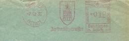 Germany Cover With Nice Pictorial  Meter Der Magistrat Der Ubergurgermeister Munster 7-12-1935 - Marcofilie - EMA (Print Machine)