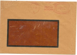 Germany Window Cover With Nice  Meter Stadt Munchen 10-3-1933 - Duitsland
