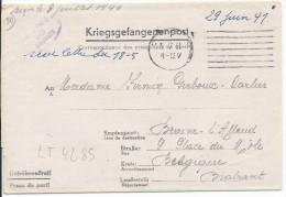 LT4285   Correspondance Des Prisonniers De Guerre, A L´interieur 3 Volets D´écriture - War 1939-45