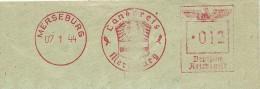 Germany Cover With Nice Pictorial Meter Landkreis Merseburg 7-1-1944 - Duitsland