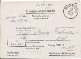 LT4291   Correspondance Des Prisonniers De Guerre, A L´interieur 3 Volets D´écriture - War 1939-45