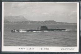 - CARTE PHOTO BATEAUX - Sous-Marin Diane - Unterseeboote