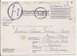 LT4300   Correspondance Des Prisonniers De Guerre, A L´interieur 3 Volets D´écriture - War 1939-45