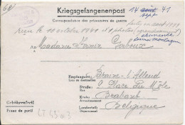 LT4303   Correspondance Des Prisonniers De Guerre, A L´interieur 3 Volets D´écriture - War 1939-45