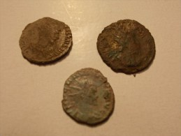 Lot 3 Pieces Monnaie Antiques Romaines Pour étude (9/10) - Roman