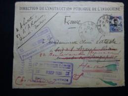 Lettre HanoÏ Pour Singapour 2 Mois Pour Un Aller Retour - Indochine (1889-1945)