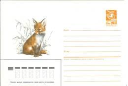 Russia USSR 1986 Fauna Fox Fuchs Animals - 1923-1991 USSR