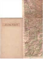 CARTE - TOPOGRAPHIQUE - AVIGNON - NIMES - ANDUZE - FLORAC - LE VIGAN - PIERRELATTE - UZES - AERODROMES - 1939. - Cartes Topographiques