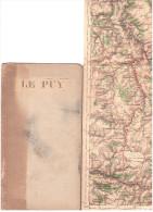 CARTE - TOPOGRAPHIQUE - LE PUY - ALLENC - LARGENTIERE - MONTELIMAR - VALENCE - TOURNON - YSSINGEAUX - LE CHEYLARD - LORI - Cartes Topographiques