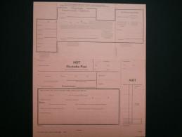 A2906) DDR Telegrafische Postanweisung C90c Ungebraucht Kpl. - DDR