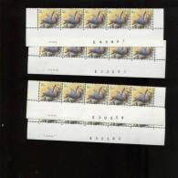 Belgie 2294 Buzin Vogels Birds 5Fr CURIOSITE Avec Et Sans Points 4x Datumstrook Bande Datée Paar & Onpaar 9/4/1990 - 1985-.. Oiseaux (Buzin)