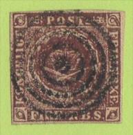 """DEN SC #2  1853 4 RBS """"Thiele II"""" Prtg, """"Kranhold Retouch"""" 4 Margins, Facit 2012 2IIIBv4 W/cert, CV ~600.00 - 1851-63 (Frederik VII)"""