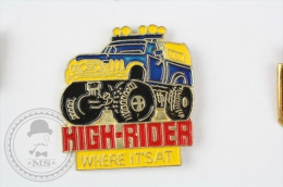 High Rider, Where It´Sat - Blue Car - Pin Badge #PLS - Pin