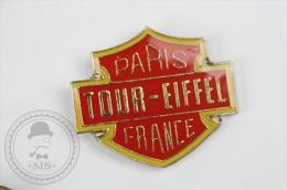 Motorcycle Logo - Paris Tour Eiffel France - Pin Badge #PLS - Motos