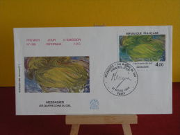 FDC - Messagier Les Quatres Coins Du Ciel - Paris- 31.3.1984 - 1er Jour - 1980-1989