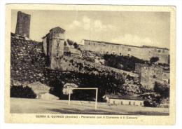 Serra S. Quirico Panorama Con Il Convento E Il Cassaro ( Taglio Verticale In Alto )  NON VIAGGIATA C.1861 - Italia