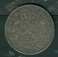 Belgique 5 Francs Argent Léopold II   Année 1873 Très Belle Pièce    - PIA6601 - 09. 5 Francs