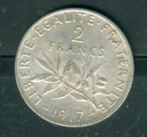PIECE 2 FRANCS argent  semeuse ann�e 1917  �tat tb    - PIA6610