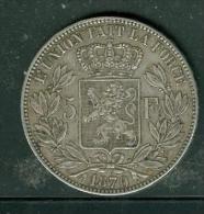 Belgique 5 Francs Argent Léopold II  Année 1870   - Pia6701 - 09. 5 Francs