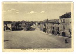 Morro D'alba Piazza Targhetti E Via Roma   VIAGGIATA 1956 Indirizzo Cancellato E Francobollo Asportato   C.1869 - Italia