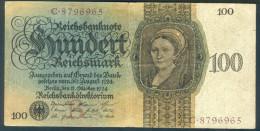 Deutschland, Germany - 100 Mark, Reichsbanknote, Ro. 171 A ,  ( Serie B/C  ) 1924 ! - [ 4] 1933-1945: Derde Rijk