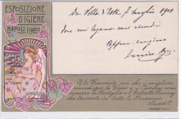 """CARD ESPOSIZIONE D'IGIENE NAPOLI 1900 PUBBLICITA' PASTIGLIE """"PANERAY PER TOSSI LIBERTY      -FP-V-2- -0882-21942 - Publicidad"""