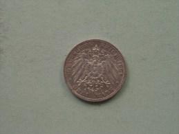 1909 A - 3 ( Drei ) Mark Prussia Preussen / KM 527 - 16.6 Gr. Silber / Silver ( Details Zie Foto´s ) ! - [ 2] 1871-1918 : Empire Allemand